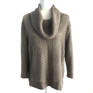 NEW YORK & COMPANY Turtleneck sweater cable knit
